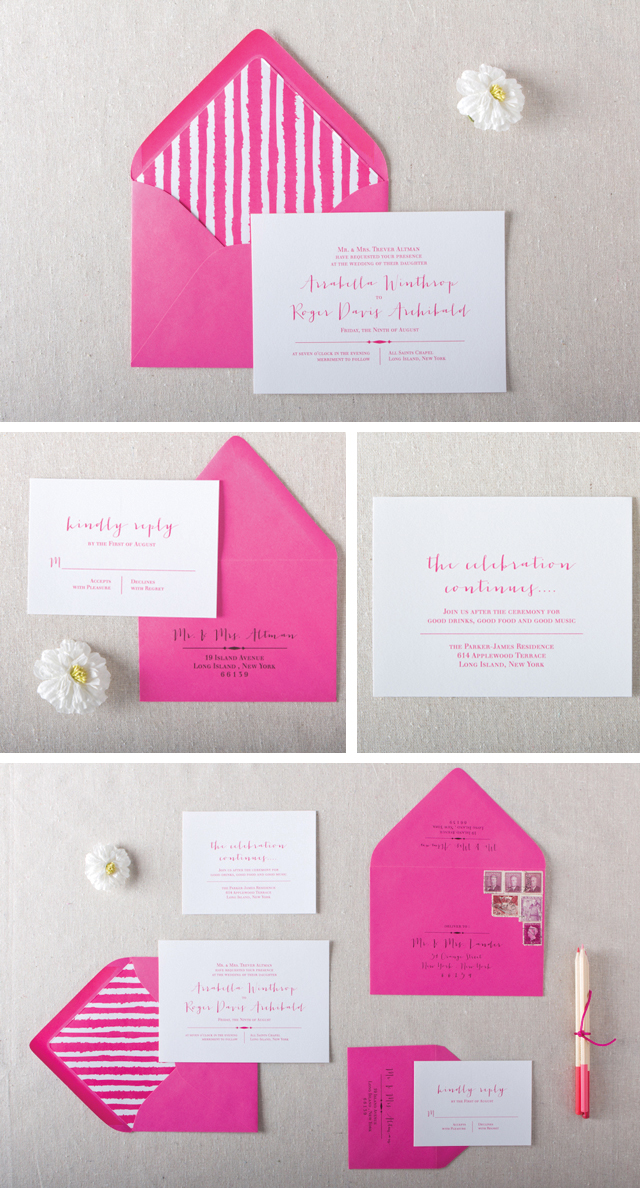 Clara Wedding Invitations by Chelsey Emery www.chelseyemery.com