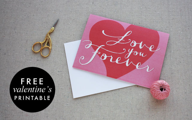 Free Valentine's Day Card Printable by Chelsey Emery | www.chelseyemery.com