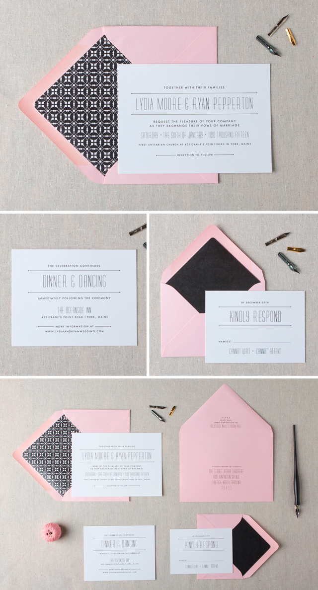 Ashby Wedding Invitation by Chelsey Emery