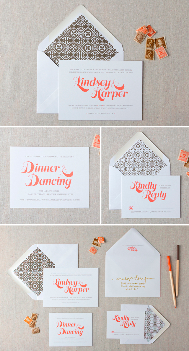 Beckett Wedding Invitation Suite by Chelsey Emery | www.chelseyemery.com