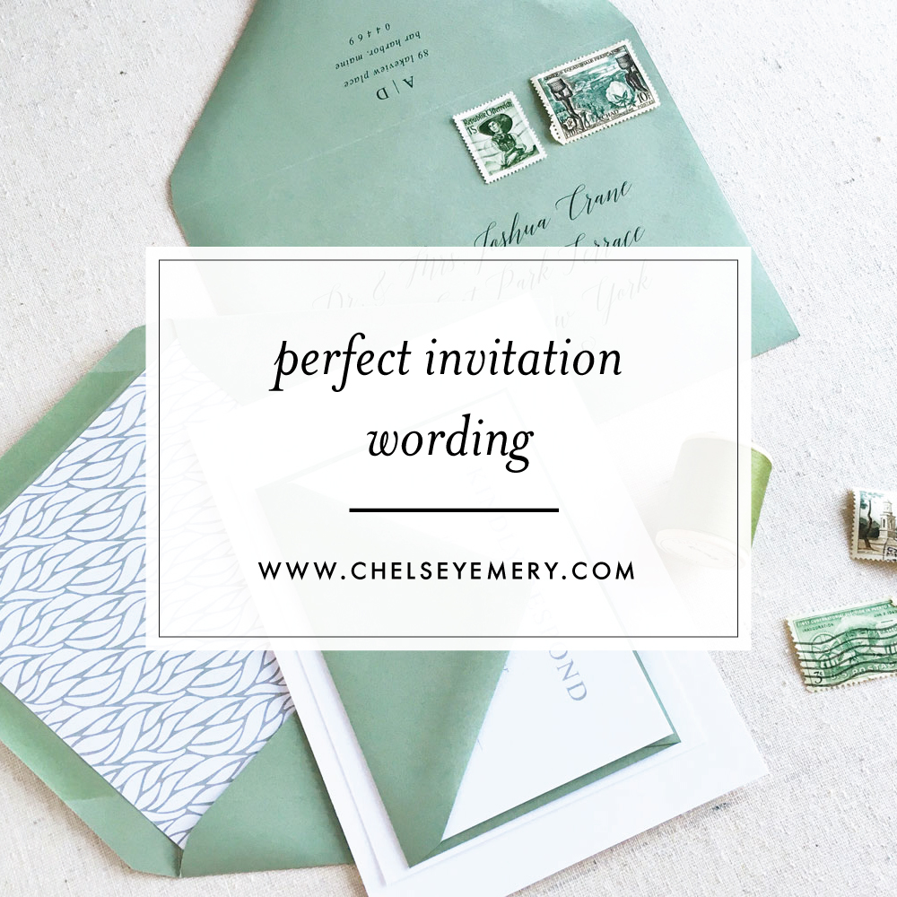 Wedding invitation wording guidelines tips chelsey emery stopboris Choice Image
