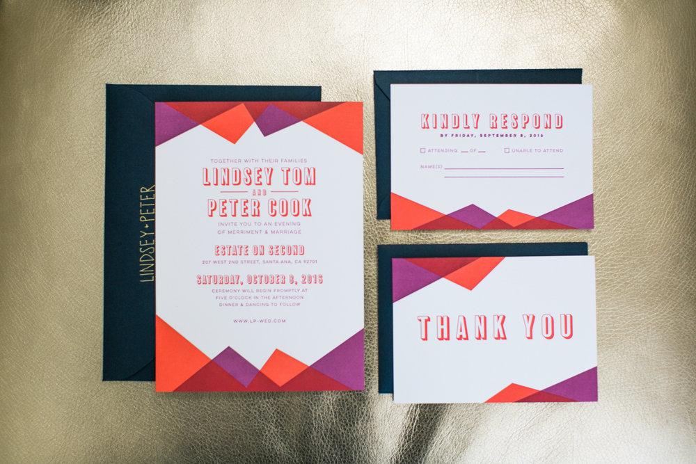 Wedding Invitation Suite Lindsey Tom