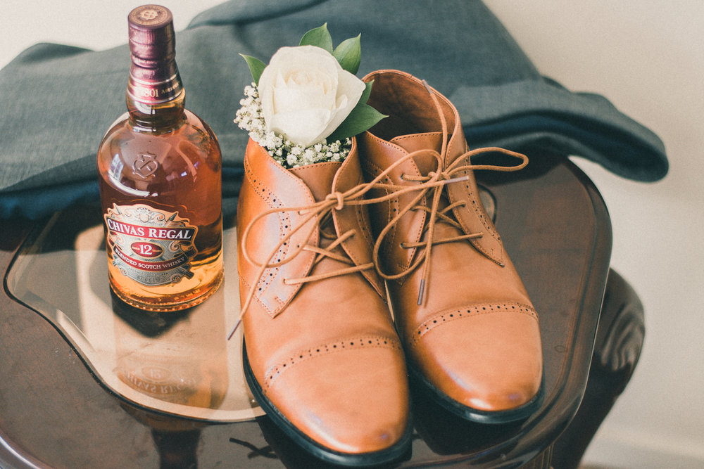 A great shoe and a gentleman's drink.