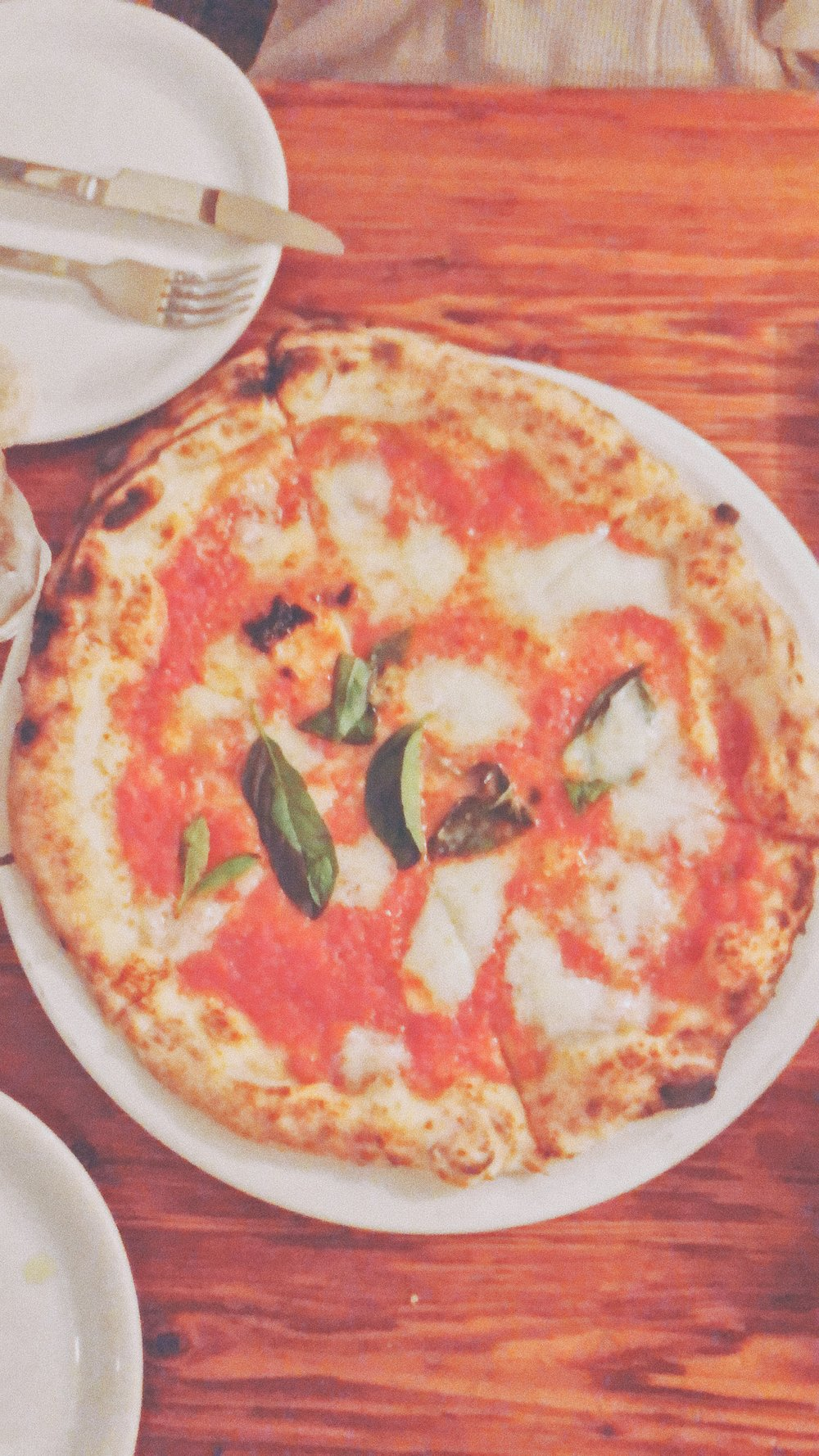 Quick Cell Phone snap of the my Yummy Margarita Pizza