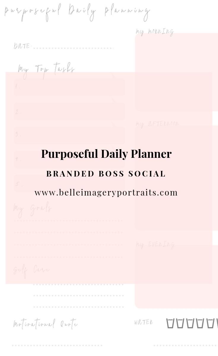 Purposeful Daily Planner Branded Boss Social
