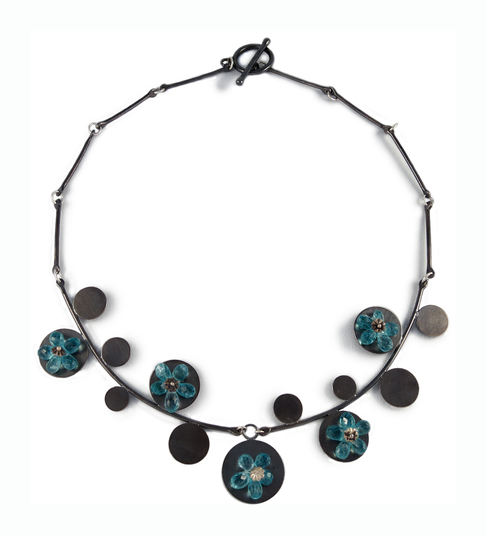 Blue Flowers, necklace