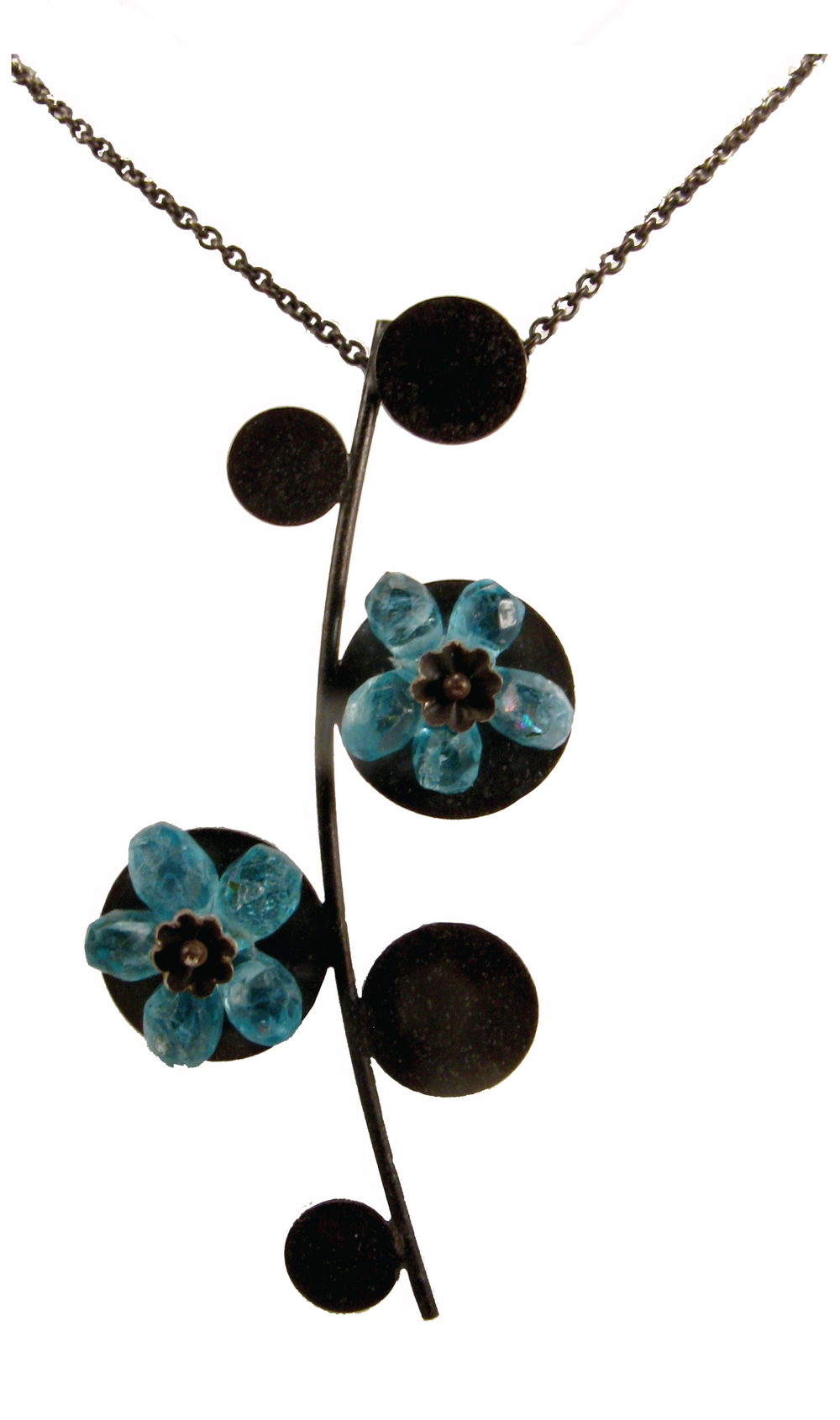 Blue Flowers, pendant