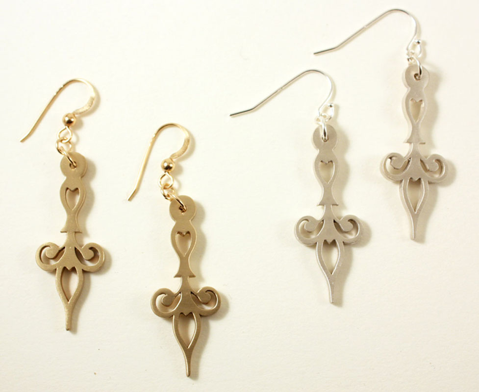 Time, minute earrings