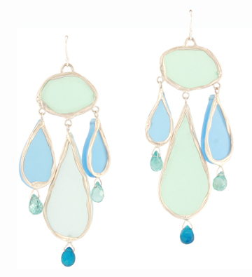 Neon Tears, blue earrings