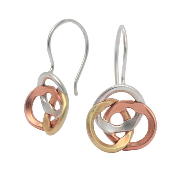 Tonal, infinity drop earrings