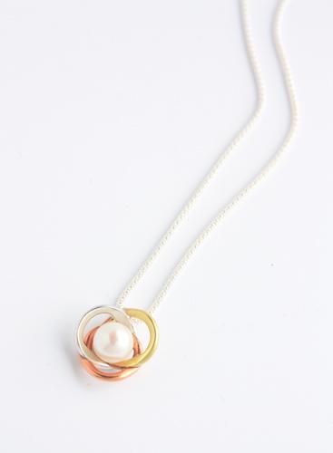 Tonal, infinity pearl pendant