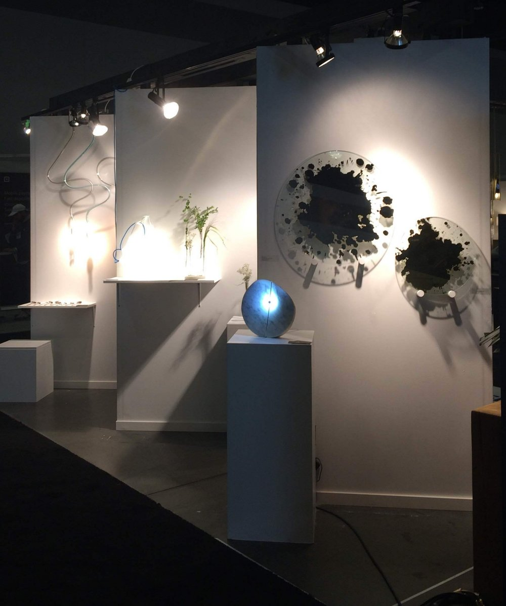 IDS Vancouver booth view 1, with Brad Turner Glass Art & Design