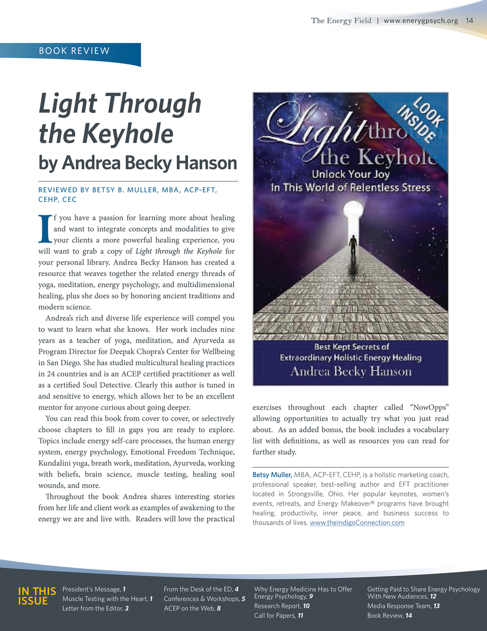 Andrea Becky Hanson's Book Review