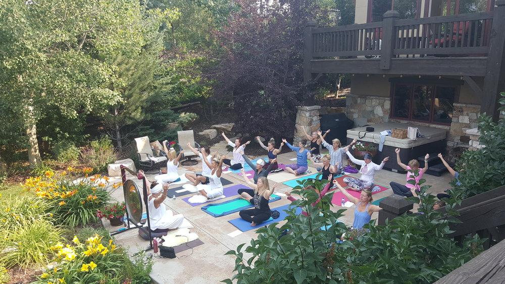 Mid Summer Outdoor Yoga Studio