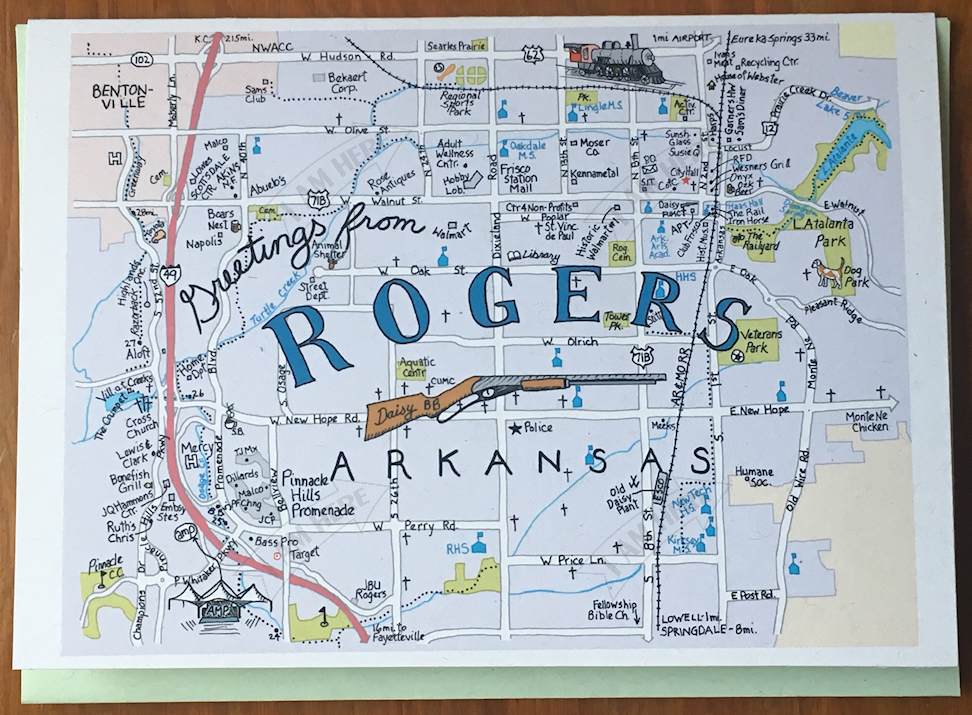 ROGERS, Arkansas — I AM HERE CARDS