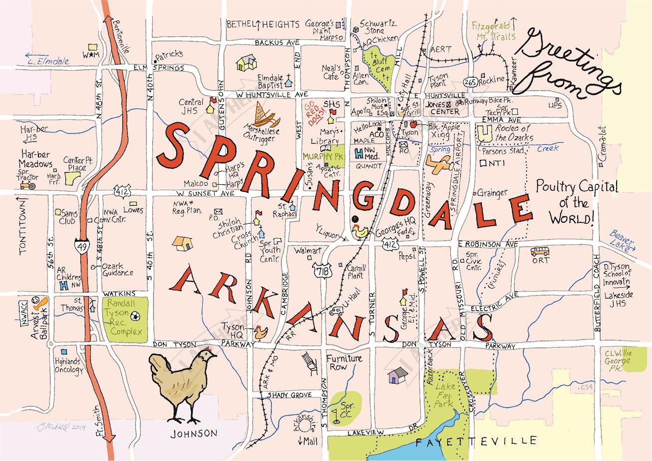 SPRINGDALE, Arkansas — I AM HERE CARDS