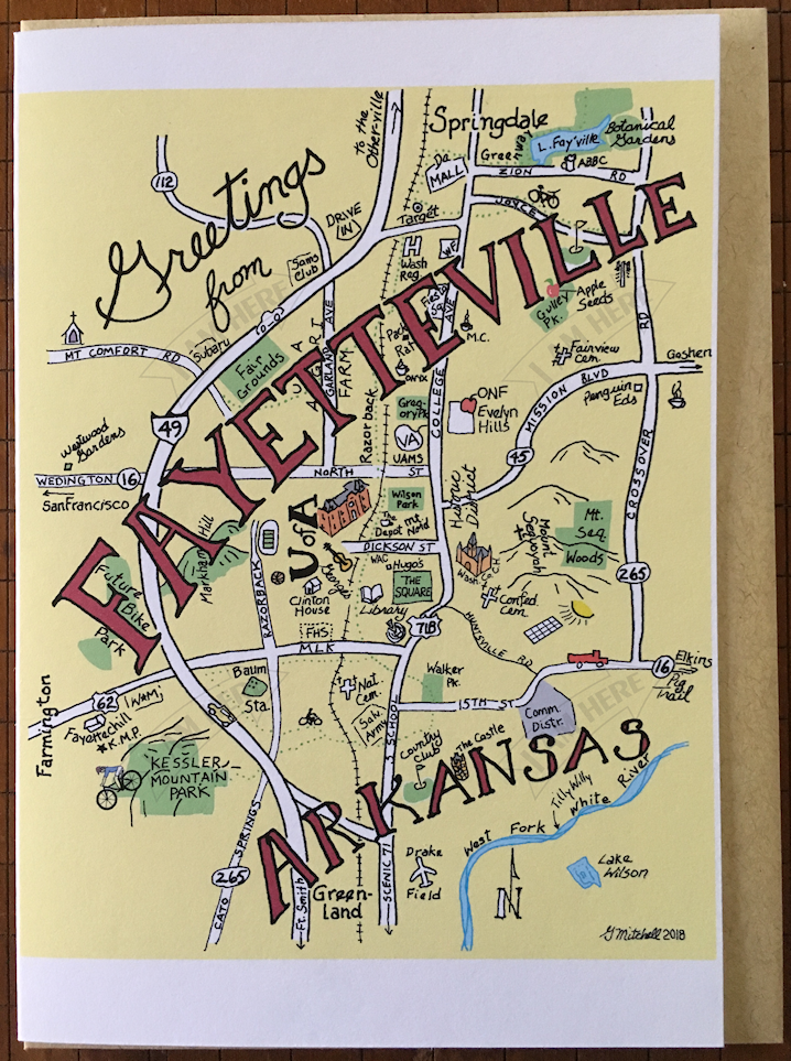 FAYETTEVILLE AR — I AM HERE CARDS
