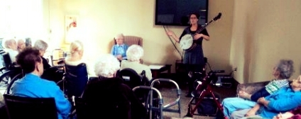 Singing with residents at Fallbrook Woods, Portland, Maine