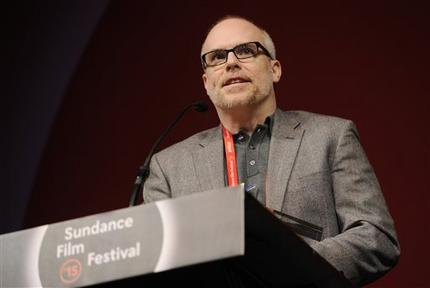 Chad Gracia accepting Sundance Grand Jury Award in 2015.