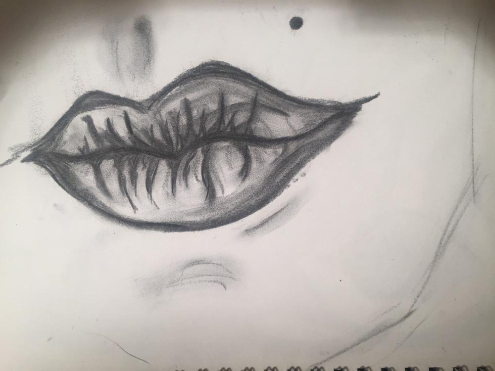 Original Sketch for Acinonyx Jubtas based off of an image of Dita Von Tesse.