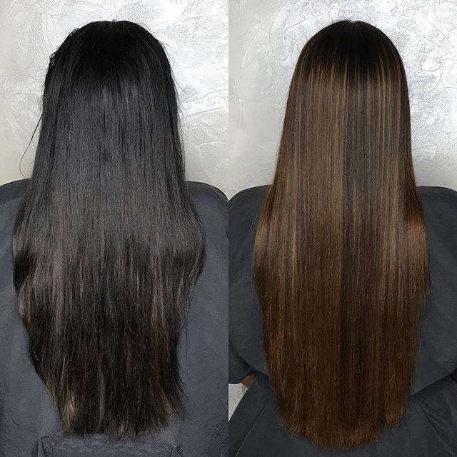 Magic Sleek done by Cynthia and Destiny 😍😍 These are AIR DRIED results Swipe to see video ➡️ This treatment  provides temporary straightness and works much like a Keratin in that it improves the overall health and appearance of hair while Straightening and can be layered over previous treatments to ensure smooth and uniform results! ✨ . . . #magicsleek #magicsleeknyc #beforeandafterhair #temporarystraighthair #extralonghair #twoheadshair #colorworksny #colorworkscynthia #colorworksdestiny