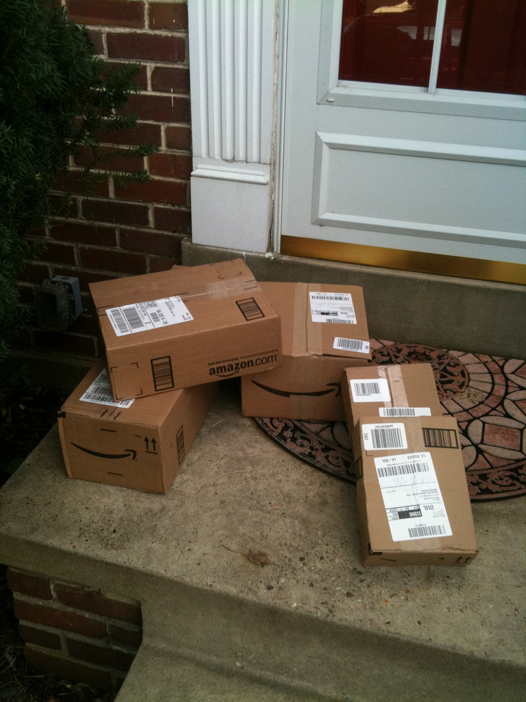 Amazon Packages.    Drew Stephens      CC-BY-SA-2.0