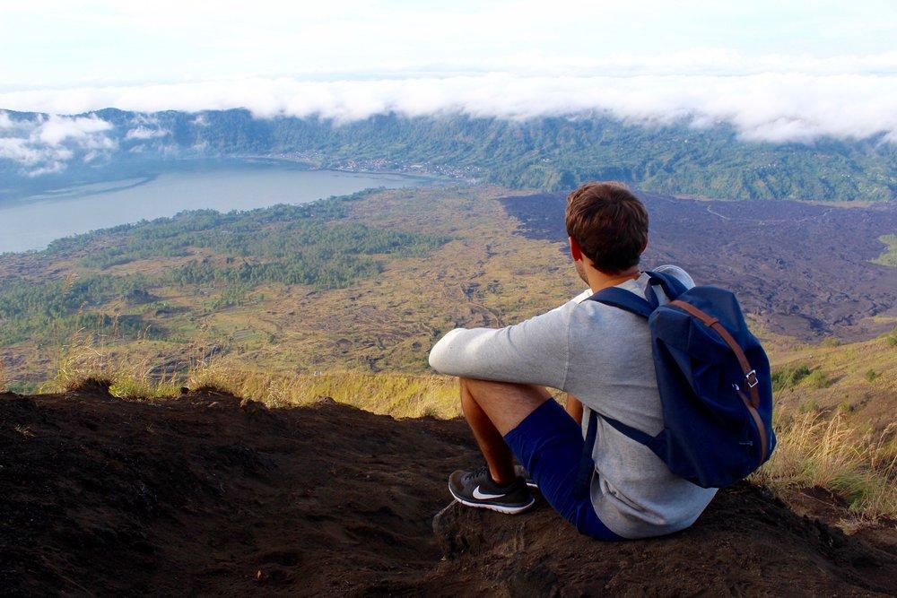 Descending Mount Batur, Indonesia