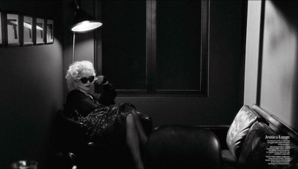 Assisting Didier Malige for W Magazine. Jessica Lange, shot by Steven Klein.
