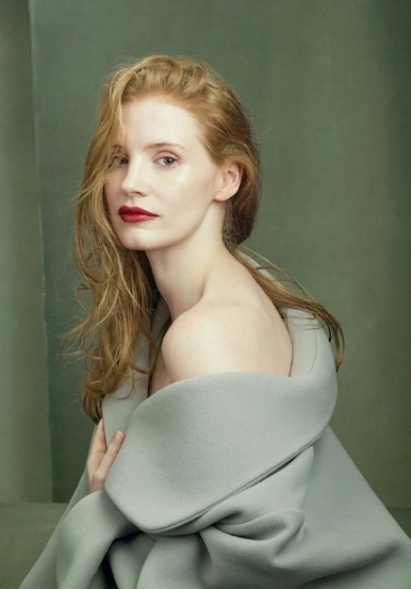 Assisting Didier Malige for US Vogue. Jessica Chastain, shot by Annie Leibovitz.