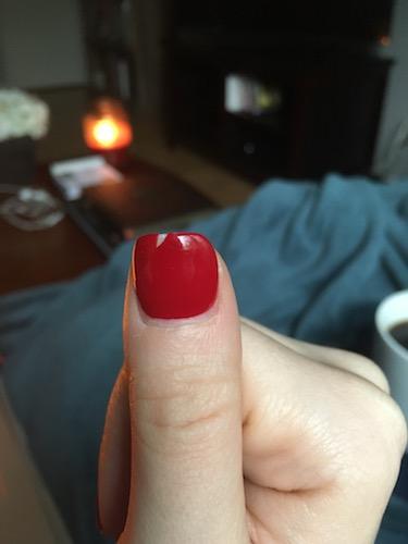 Not a broken nail!