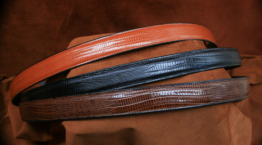 Embossed Lizard Belt - $65