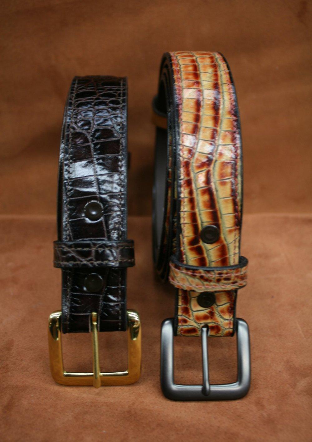 Hornback Embossed Belt - $70