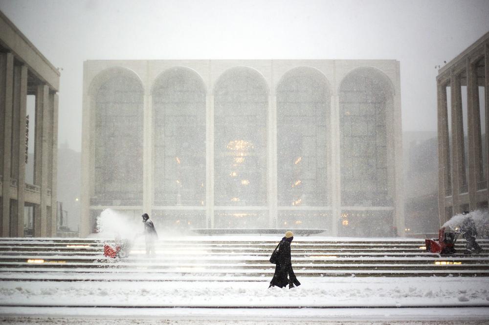 Lincoln Center Snow