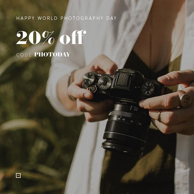 Happy World Photography Day🎉 Don't miss out on our flash weekend sale and get the opportunity to purchase any of our designs with a 20% discount💥 Use code PHOTODAY on checkout📸 squaremuse.com/shop ________________ #junebugweddings #radlovestories #theweddinglegends #indiebride #huffpostido #togetherjournal #authenticlovemag #theartofcapteuringstories #wanderingphotographers #loveintentionally #contax645 #filmisnotdead #tribearchipelago #belovedstories