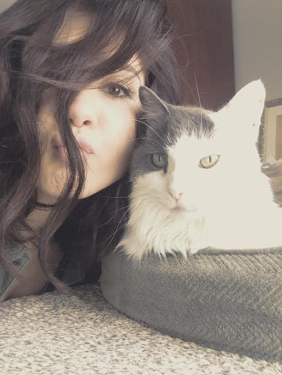 Jessica with her cat
