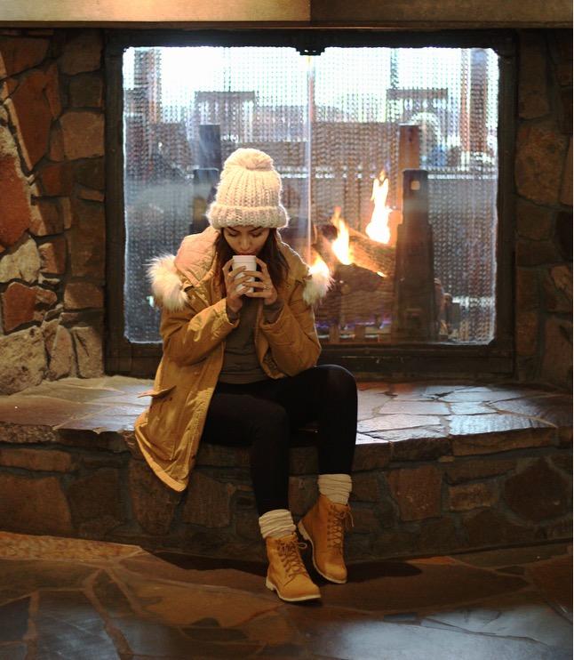 Fireplace at Skamania Lodge, Copyright Nicole Burron