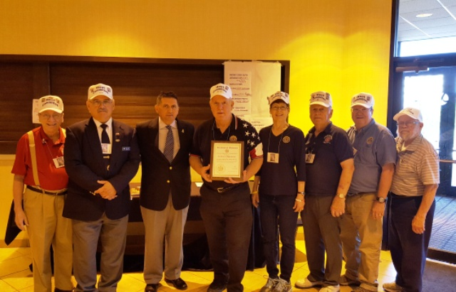 Post 501 awarded Certificate of Appreciation for hosting the WI American Legion Convention for 2016