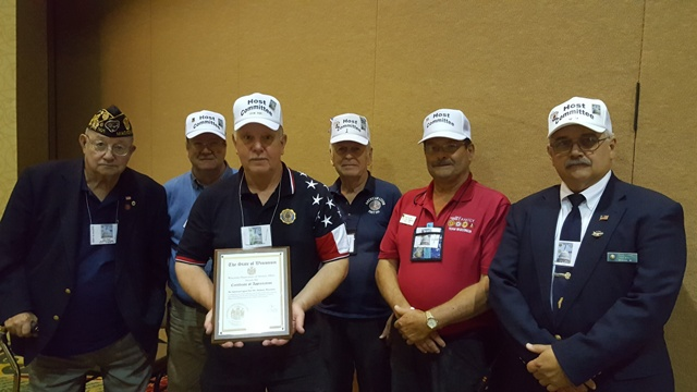 Post 501 awarded convention award