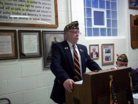 Guest Speaker at Birthday Dinner - Ronald Miller of Post 161, King Vets Home Rep. - 3/19/2015