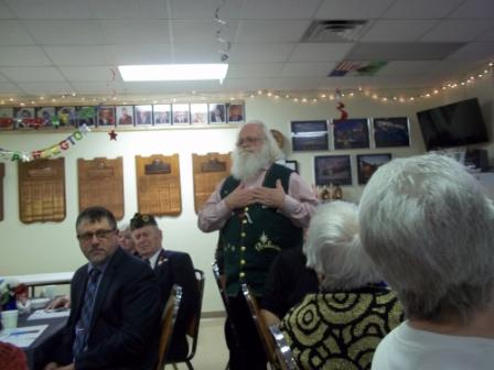 Bill Wilson of Post 161, Santa Claus to the Vets at King - 3/19/2016