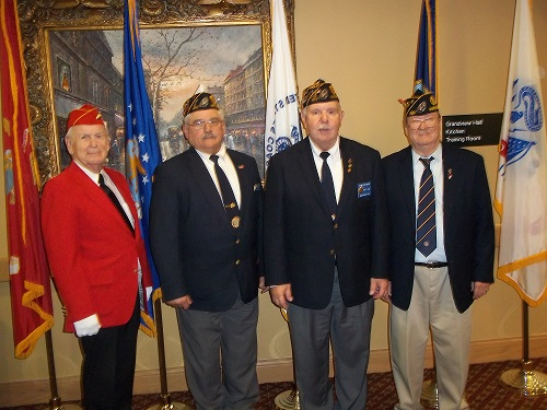 Post 501 Members attending the Veterans Day program at Oak Place, Madison, WI on 11-11-2016