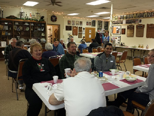 Good attendance at Cdr. Tom's Chili Dinner on 1/14/2017.