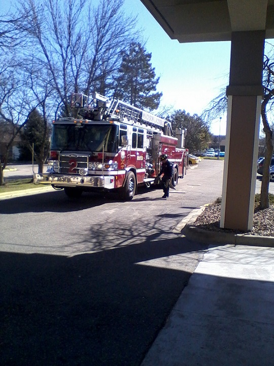 The First Responders from Ladder Truck #2 Arrives timely..