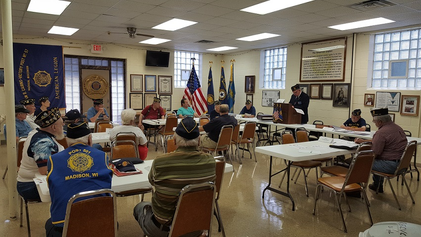 Post 501 Members meeting on 8/9/2017.
