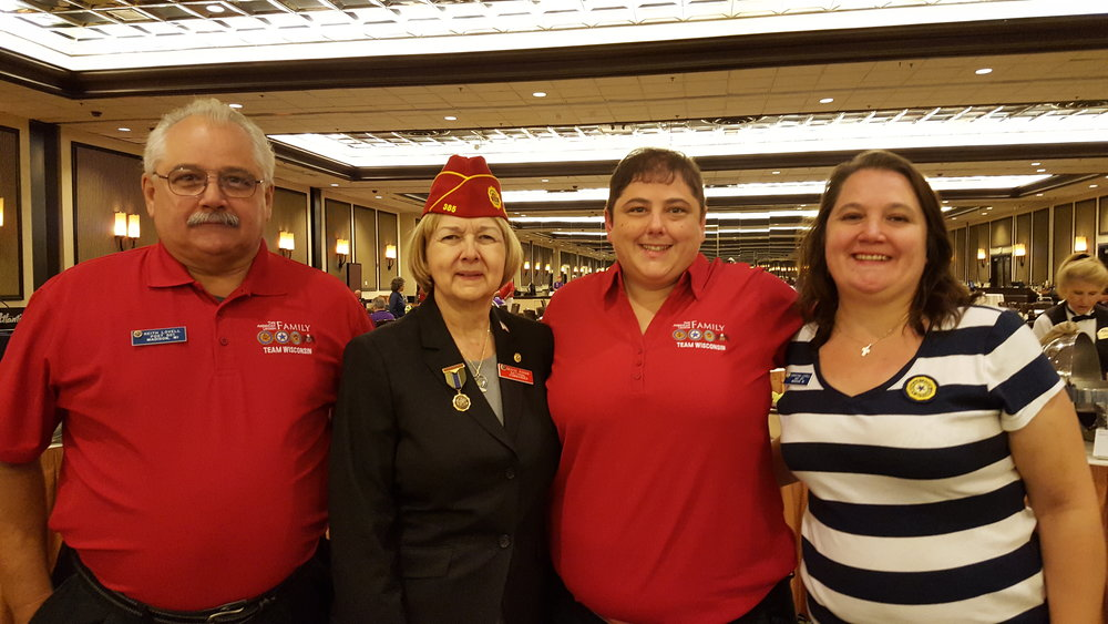 The Lovell family congratulating Denise Rohan on her election to National Commander, 8-24-2017.