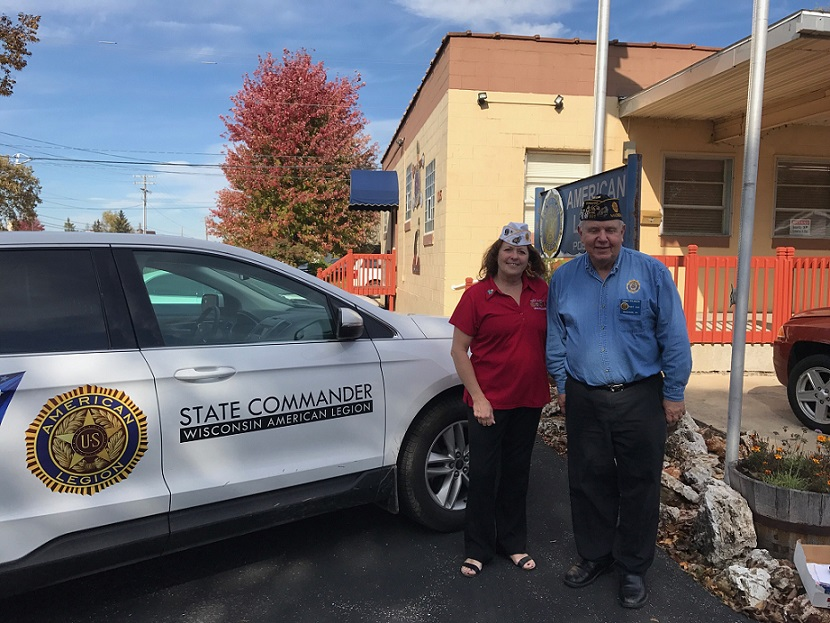 Post 501 Commander Thomas Stolarczyk and WI Department Commander Laurel M. Clewell at Membership Revitalization held at Post 501, 10-20-2017.