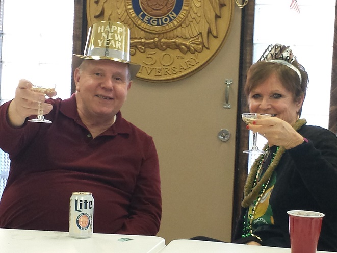 Mary & Cdr. Tom celebrating arrival of 2018.