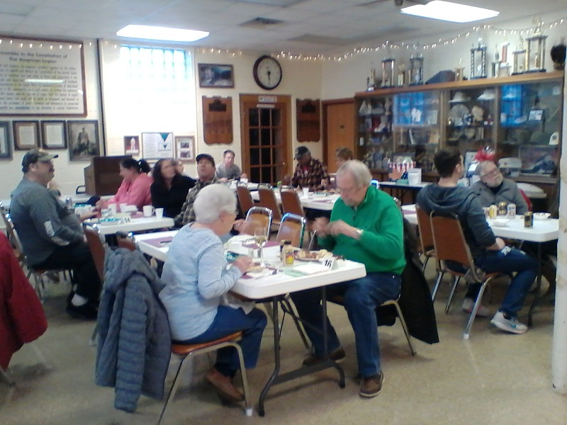 Participants at Post 501's Corned Beef Dinner enjoyed a delicious meal on 3/10/2018.