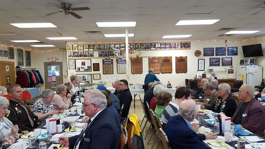 General membership enjoying Post 501's Birthday Dinner & Awards Presentations on 3-24-2018.
