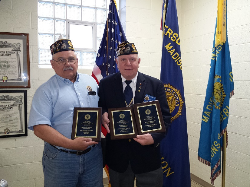 Post 501 Thomas Stolarczyk and 1st Vice Cdr 3rd District, Keith Lovell.